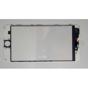 IPHONE 6S PLUS 5.5' COPY AAA TOUCH SCREEN GLASS  + LENS DIGITIZER WITH FRAME - ΛΕΥΚΟ