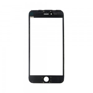 IPHONE 6 PLUS 5.5' ORIGINAL TOUCH SCREEN GLASS  + LENS DIGITIZER WITH FRAME - ΜΑΥΡΟ