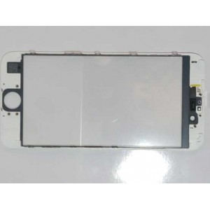 IPHONE 6 4.7' OEM TOUCH SCREEN GLASS  + LENS DIGITIZER WITH FRAME - ΛΕΥΚΟ