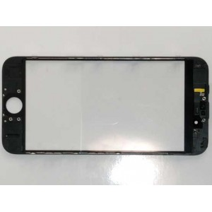 IPHONE 6 4.7' OEM TOUCH SCREEN GLASS  + LENS DIGITIZER WITH FRAME - ΜΑΥΡΟ