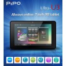 PIPO U3 3G Phone Call Build-in 3G  Android 4.1 RK3066 Dual-Core Quad-core Mali-400 1GB RAM 16GB HDMI Bluetooth 7-inch IPS